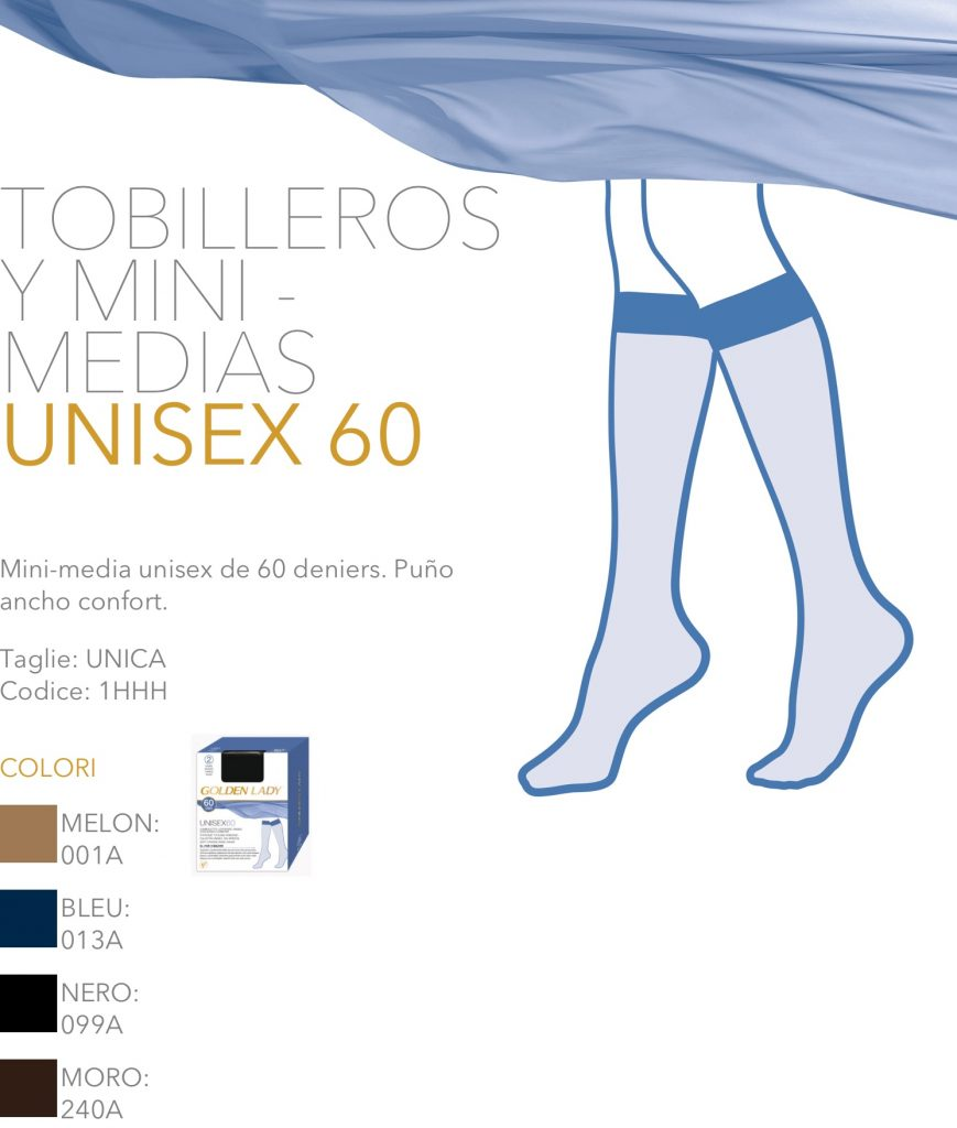 Mini-media unisex de 60 deniers. Golden Lady
