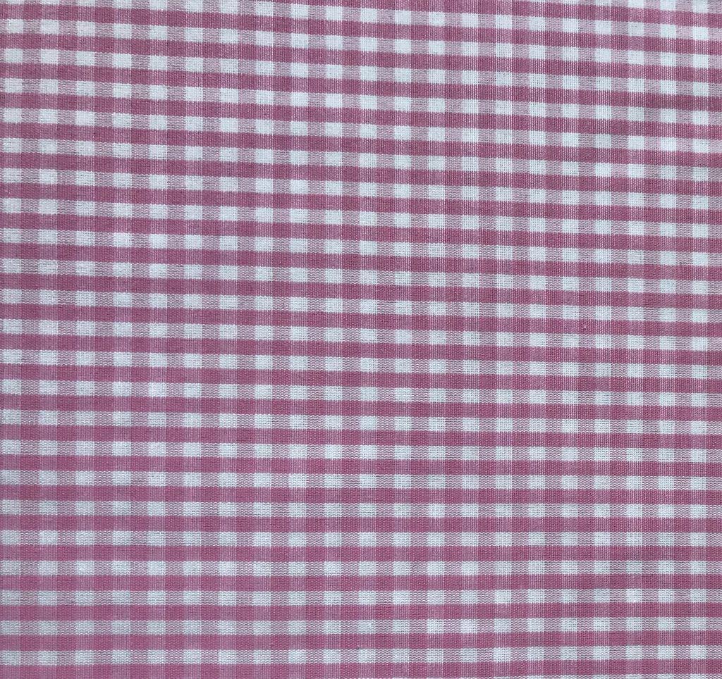 Tela cuadros vichy rosa claro.