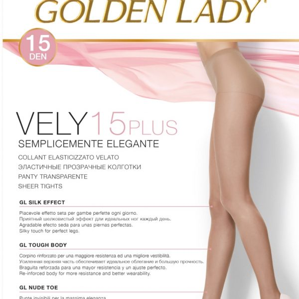 Panty con lycra de 15 deniers. 2 pares Golden Lady