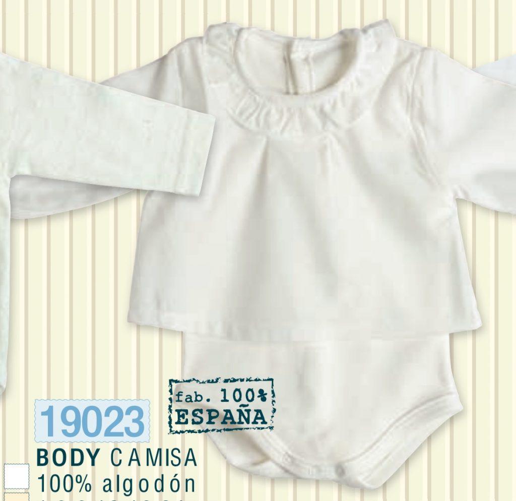 Body camisa 100% algodon de Calamaro.