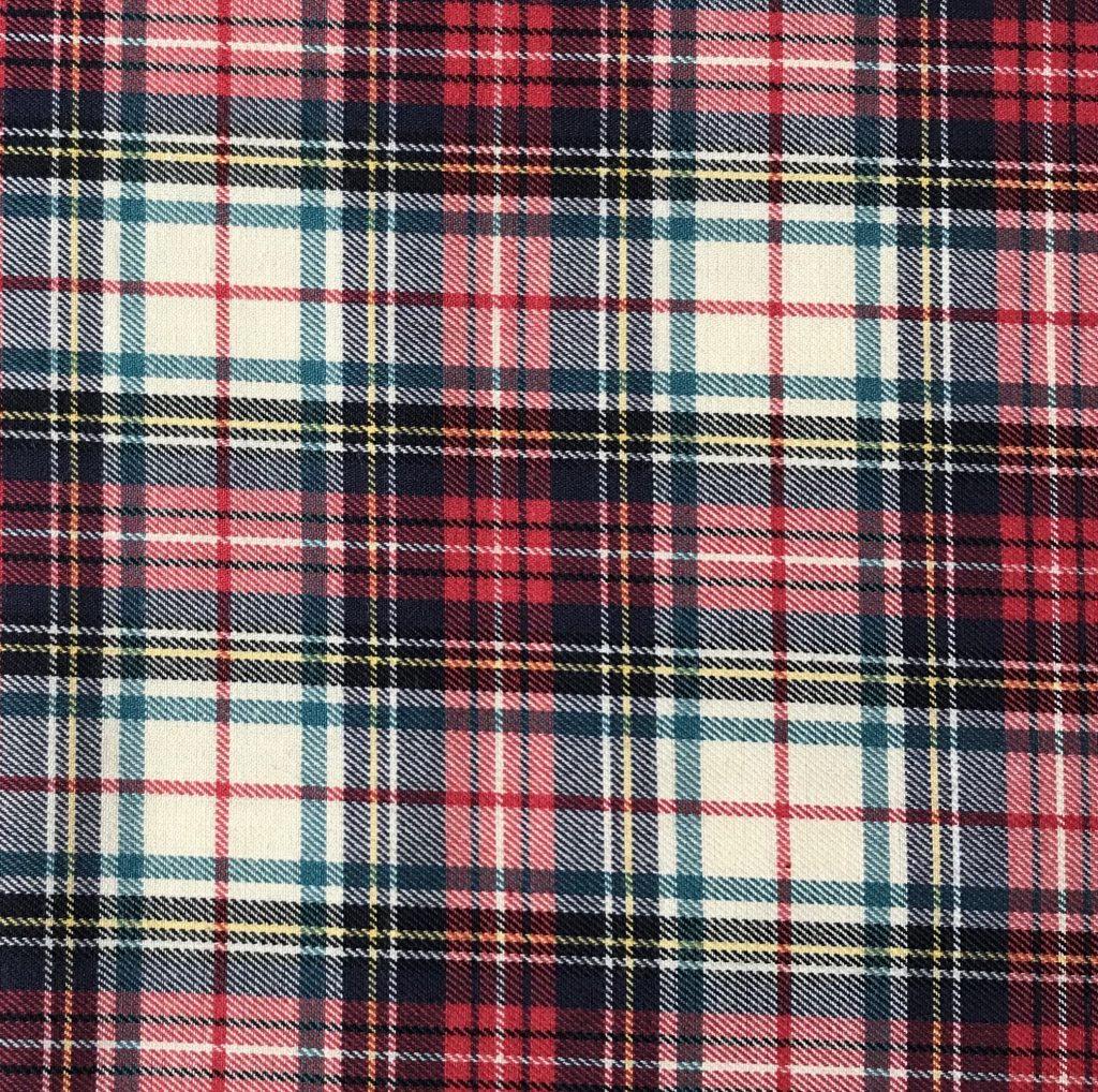 Tela cuadros Escoceses Rojo/Crudo.