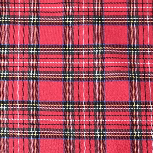 tela cuadros escoceses roja