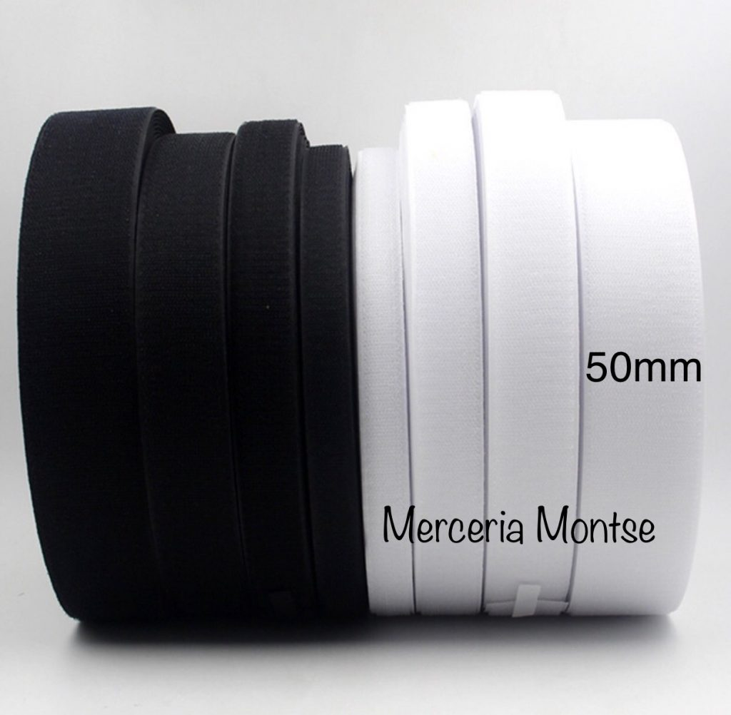 Velcro adhesivo blanco de 50mm.