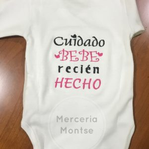 Body bordado personalizado Merceria montse
