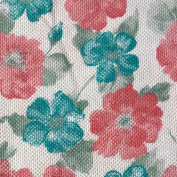 tela pique verano flores merceria montse