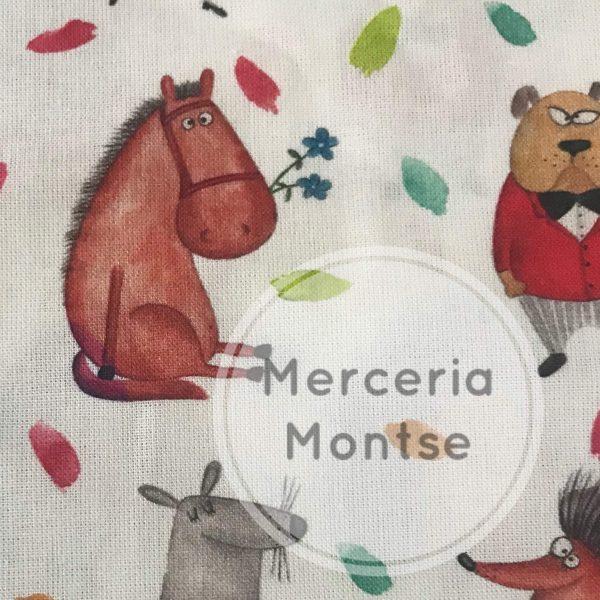 Tela dibujos animales Merceria montse